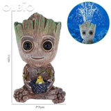 Olbio Baby Groot Flowerpot Cute Toy Pen Pot Holder Model & Keychain Pump Air Bubble 2