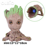 Olbio Baby Groot Flowerpot Cute Toy Pen Pot Holder Model & Keychain Pump Air Bubble 3