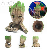 Olbio Baby Groot Flowerpot Cute Toy Pen Pot Holder Model & Keychain Pump Air Bubble 4