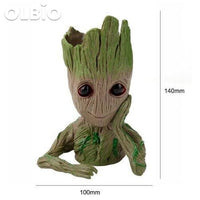 Olbio Baby Groot Flowerpot Cute Toy Pen Pot Holder Model & Keychain 19