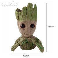 Olbio Baby Groot Flowerpot Cute Toy Pen Pot Holder Model & Keychain 20