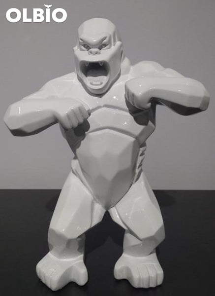 Wild Kong Red Abstract Sculpture 20Cm White Collectible