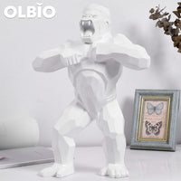 16 Statue King Kong Gorilla Creative Art White