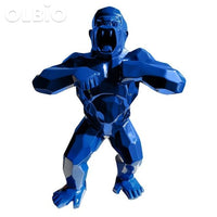 16 Statue King Kong Gorilla Creative Art Blue