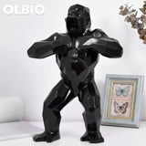 16 Statue King Kong Gorilla Creative Art Black