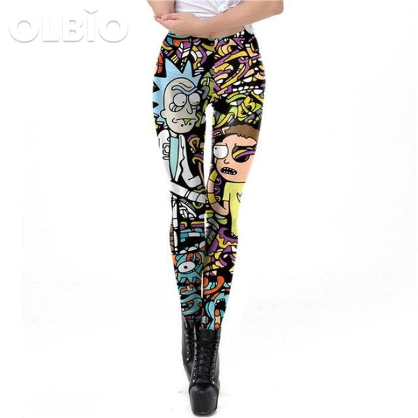 Rick And Morty Women Printed Leggings Kdk1905 / L Clothes