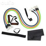 Resistance Band Exercise Fitness 11Pcs/set Style 1