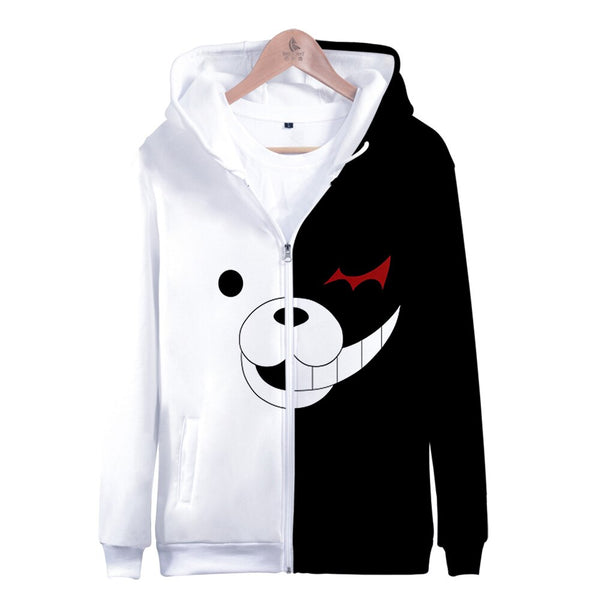 Danganronpa Monokuma Zipper Hoodies