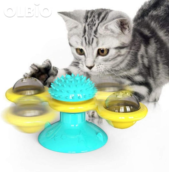 Windmill Cat Toy Interactive With Catnip Pets