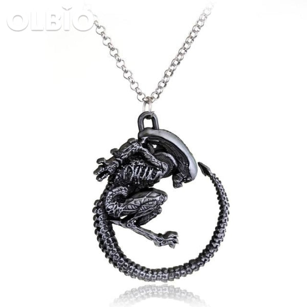 Olbio Alien Giger Pendant Aliens Avp Necklace Silver Plated