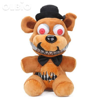 Olbio New 25Cm Fnaf Nightmare Freddy Bear Foxy Springtrap Bonnie Plush Toys Five Nights At Freddys