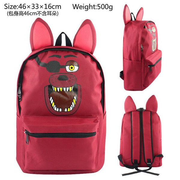 OLBIO FNAF Backpacks Five Nights At Freddys With Ears Bags 4 colors