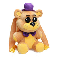 33cm FNAF Freddy Fazbear Foxy Plush Backpack Bonnie Chica Golden Bear Five Nights At Freddy's Stuffed Cosplay School Bag Peluche