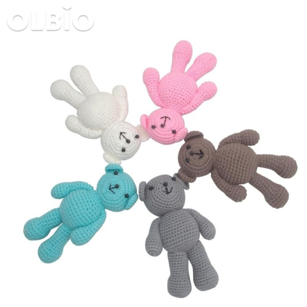 Olbio Boys Bear Crochet Knit Toy Gifts