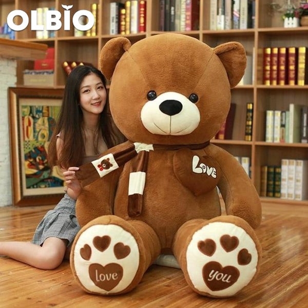 Olbio Teddy Bear With Scarf Stuffed Animals Plush Toys
