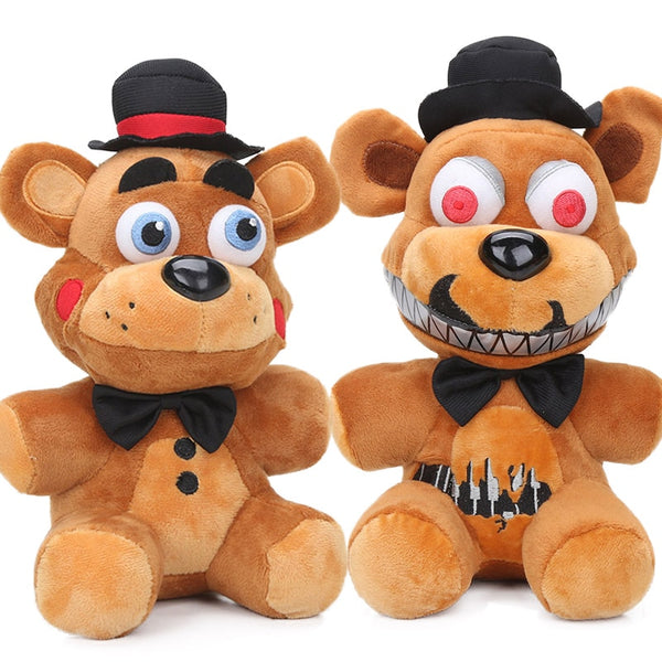 27cm 2styles Nightmare Freddy Fazbear Plush Toys Five Nights at Freddy's Soft Stuffed Animal Dolls FNAF juguetes de peluche bebe