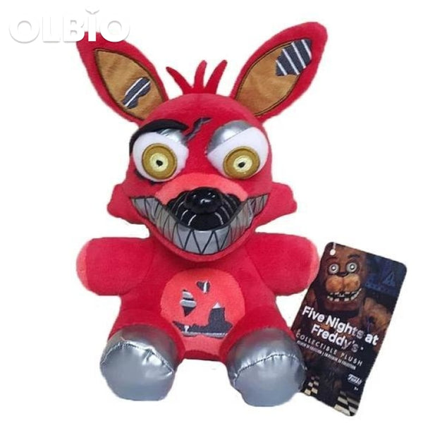 Olbio Fnaf Foxy Plush Toys Five Nights At Freddys Nightmare Fox
