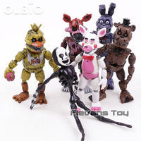 Olbio Fnaf Five Nights At Freddys Nightmare Freddy Chica Bonnie Funtime Foxy Pvc Action Figures Toys