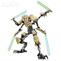 Olbio Star Wars Buildable Figure Building Block Action Toys For Kids General Grievous