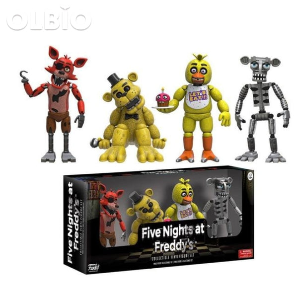 Olbio Action Figures Fnaf Toys Foxy Freddy Pvc Figure Funko Sets 4Pcs