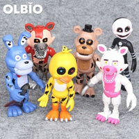 Olbio Action Figures Fnaf Toys Foxy Freddy Pvc Figure Funko Sets 6Pcs 2