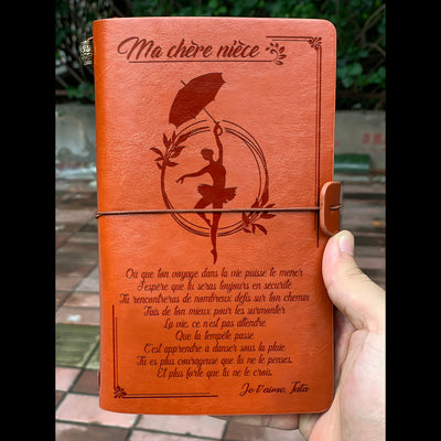 À MA FILLE - MAMAN - COURAGEUSE - JOURNAL VINTAGE