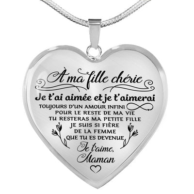 À MA FILLE - MAMAN - AMOUR INFINI - COLLIER 2