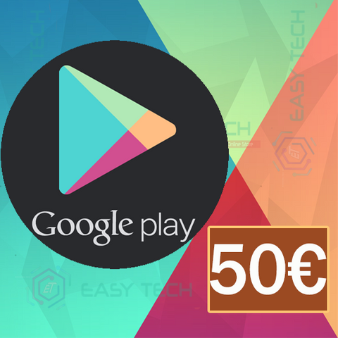 Carte Google Play 50€ (Europe)