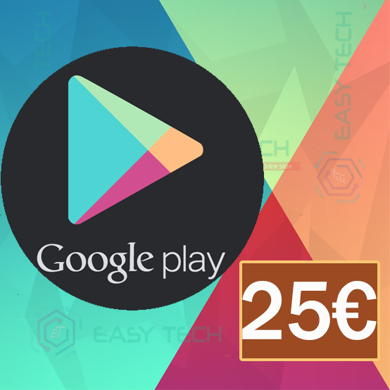 Carte Google Play 25€ (Europe)