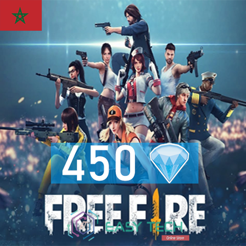 Free Fire - 450 Diamonds - Transfert via ID