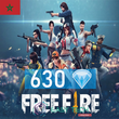 Free Fire - 645 Diamonds - Transfert via ID
