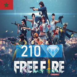Free Fire - 210 Diamonds - Transfert via ID