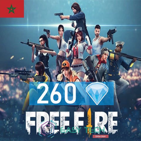 Free Fire - 260 Diamonds - Transfert via ID