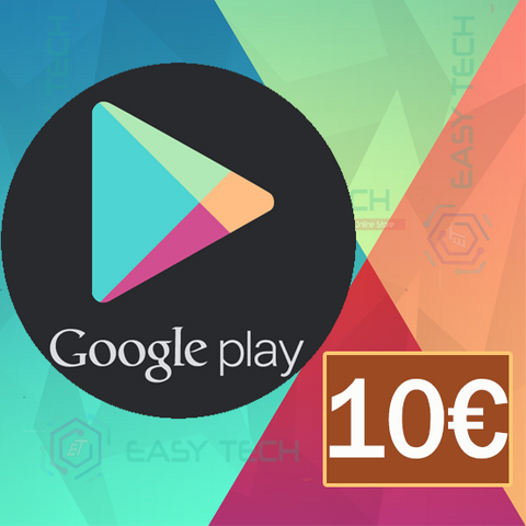 Carte Google Play 10€ (Europe)