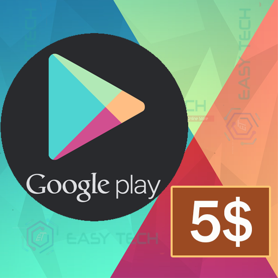 Carte Google Play 5$ (US)