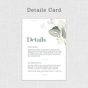 Green & Gold Naturalis Invitation Suite