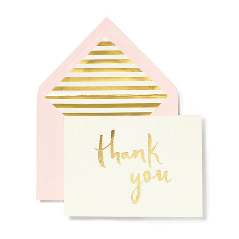 Kate Spade Paintbrush Thank you Notecard Set