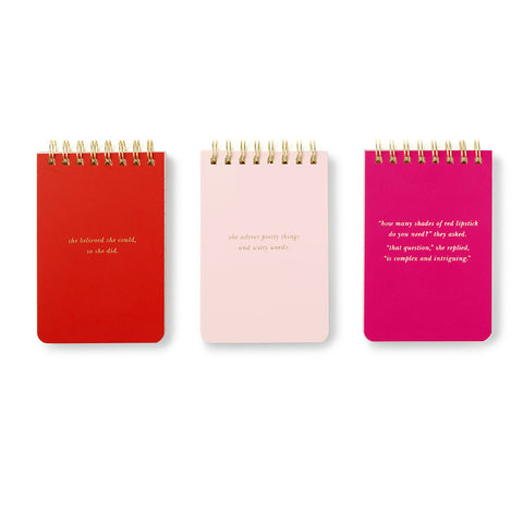 Kate Spade Statements Spiral Notepads trio