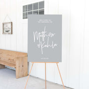 Crystal Clear Love Welcome Sign