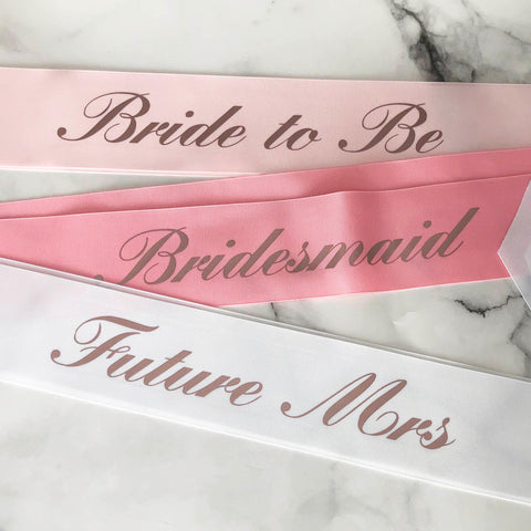 Traditional Script Customised Party Sash