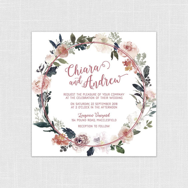 Watercolour Wreath Suite
