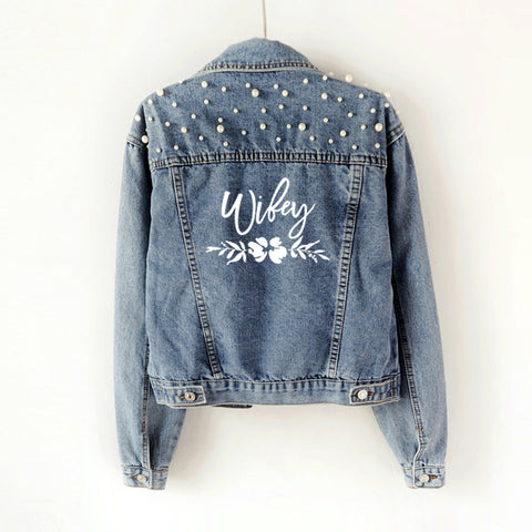 Zara Pearl Denim Jacket
