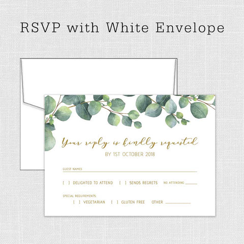 Eucalyptus Invitation