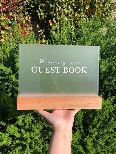Signature Acrylic Guest Book Sign