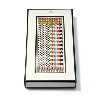 Kate Spade Stripes & Dots Pencil Set