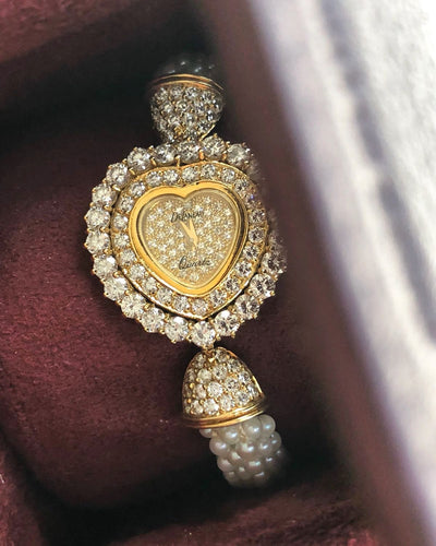 Vintage Delaneu Diamond Heart