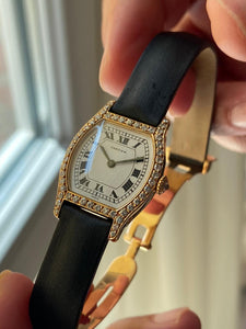 1975 Cartier Tortue Full Yellow Gold with Diamonds.
