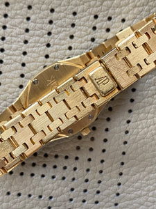 Vintage AP Ladies Royal Oak Champagne on Gold