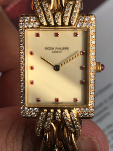 1997 Patek Philippe Full YG Ladies Watch - Full Set