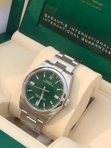 Rolex Oyster Perpetual 36mm Green